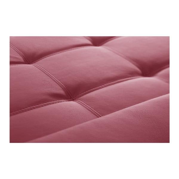 Ružová pohovka Modernist Symbole, ľavý roh