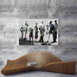 Sklenený obraz OrangeWallz People Black and White, 80 x 120 cm