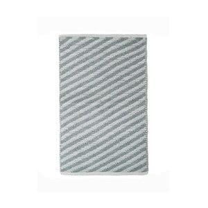 Sivý bavlnený ručne tkaný koberec Pipsa Diagonal, 60×90 cm