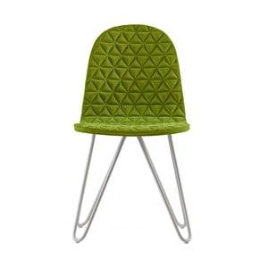 Zelená stolička s kovovými nohami IKER Mannequin X Triangle
