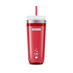 Červený pohárik na ľadovú kávu Zoku Iced Coffee