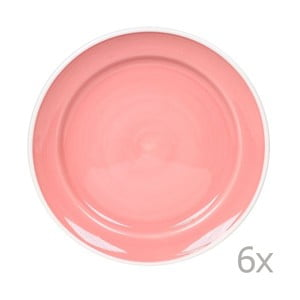 Sada 6 tanierov Puck 26.5 cm, ružová