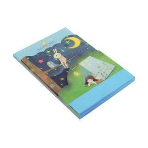 3-dielny bloček Santoro London Scottie Dogs Starry Night
