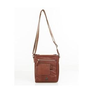 Kožená taška Florian, čokoládová