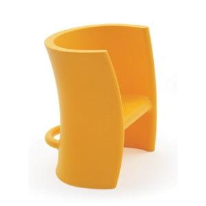 Žltá viacúčelová stolička Magis Trioli