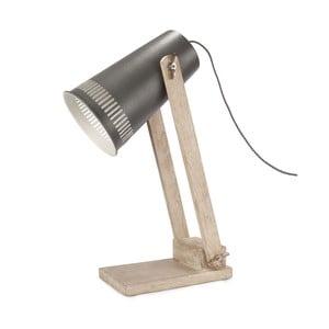 Stolová lampa so sivým tienidlom HF Living Master