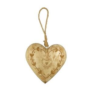 Závesná dekorácia v tvare srdca Antic Line Light
