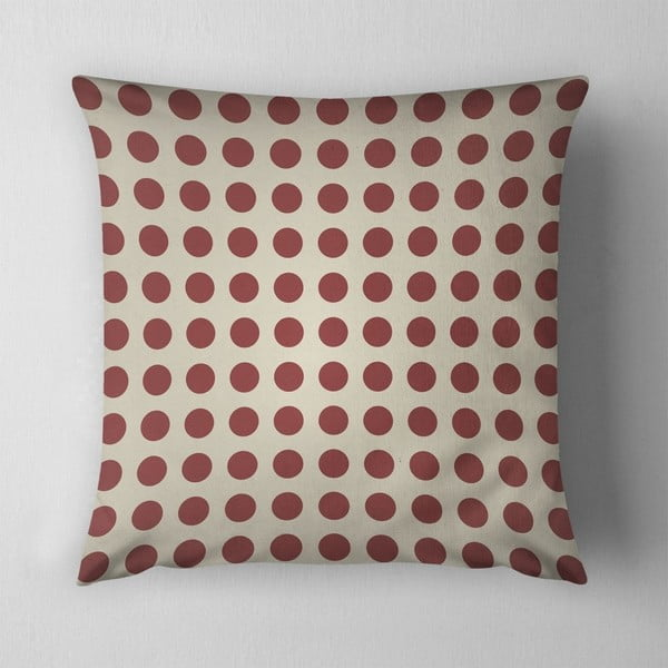 Vankúš Small Red Dots, 43x43 cm