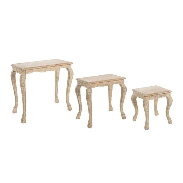 Set 3 stolíkov Vintage Natural