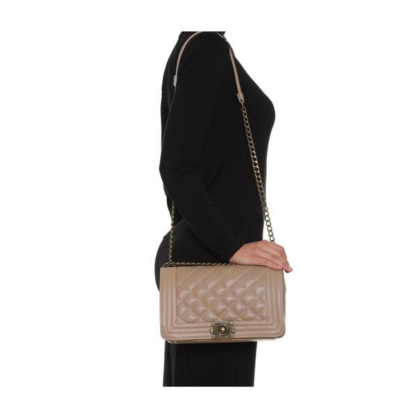 Kožená kabelka Anna Luchini 2064 Fango