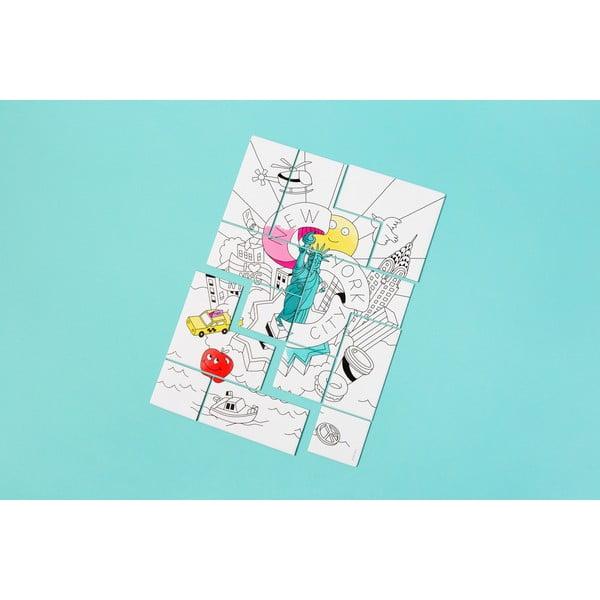 Puzzle na vymaľovanie OMY New York