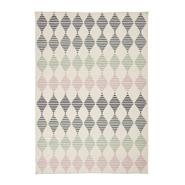 Ručne tkaný vlnený koberec Linie Design Sand, 140x200cm