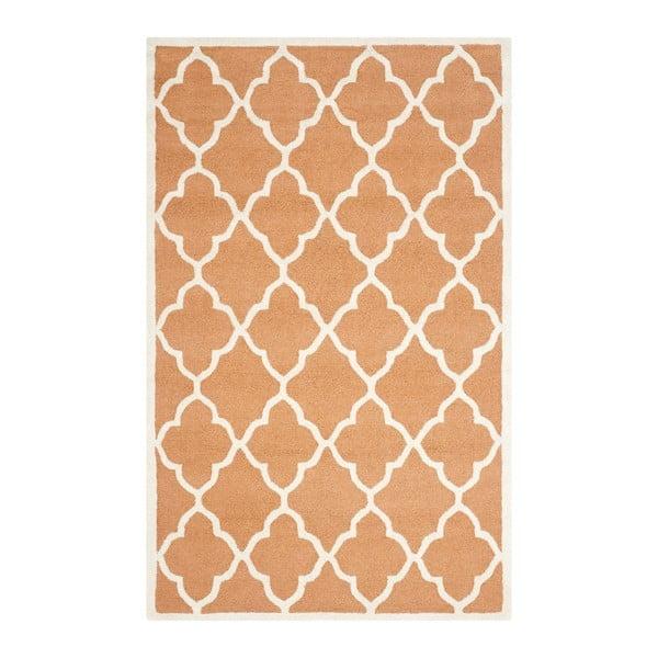 Ručne vyšívaný koberec Safavieh Noelle Orange, 152 x 243 cm