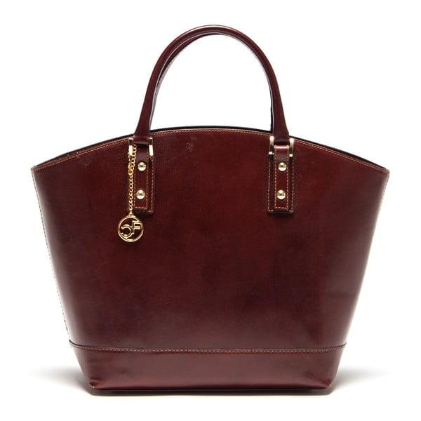 Kožená kabelka Carla Ferreri 351 Marrone