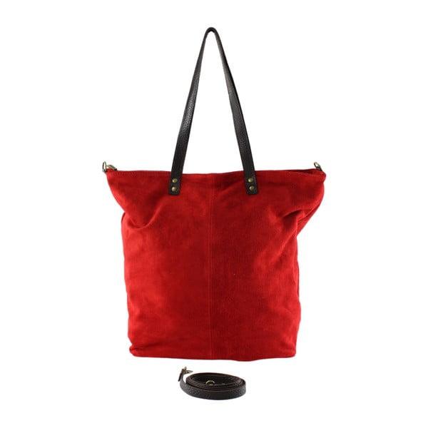 Červená kožená kabelka Asterisco