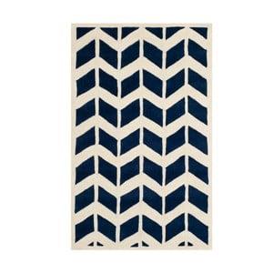 Vlnený koberec Brenna Navy, 91x152 cm