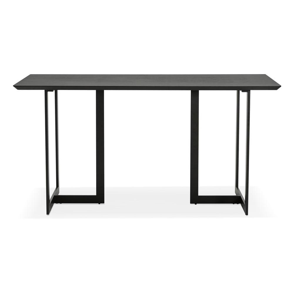 Čierny jedálenský stôl Kokoon Dorr, 150 x 70 cm