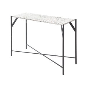 Stôl s doskou z materiálu teraco RGE Terrazzo Cosmos, 35 x 100 cm