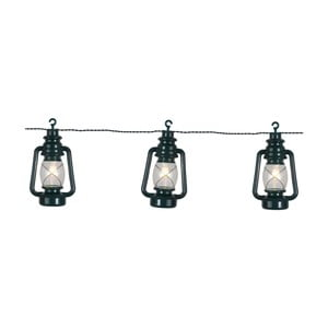 Čierna svetelná LED reťaz Best Season Lantern, 8svetielok