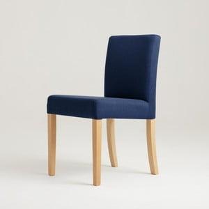 Modrá stolička s prírodnými nohami Custom Form Wilton