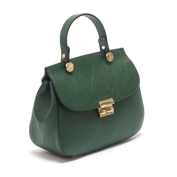 Zelená kožená kabelka Sofia Cardoni Fabiana