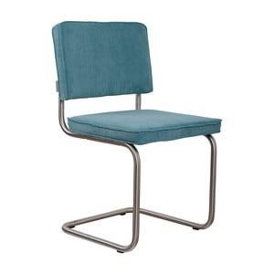 Sada 2 modrých stoličiek Zuiver Ridge Brushed Rib