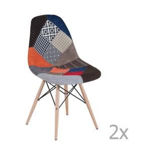 Sada 2 patchworkových jedálenských stoličiek Castagnetti Arle