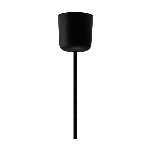 Čierny závesný kábel so striebornou objímkou Bulb Attack Uno