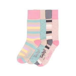 Sada 4 párov farebných ponožiek Funky Steps Coco, veľ. 35-39