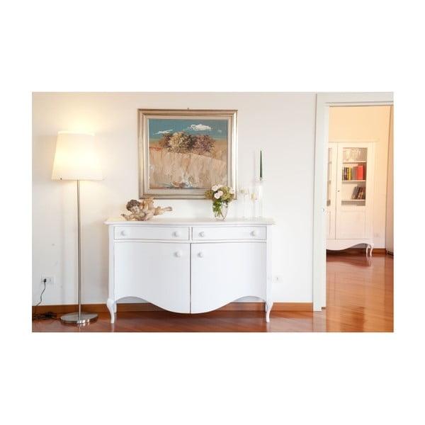 Biela drevená komoda Castagnetti Adeline