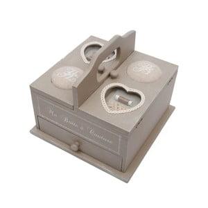 Drevená krabica na šitie Antic Line Couture