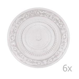 Sada 6 sklenených tanierov Clayre, 23 cm