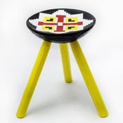 Ručne maľovaná stolička Luna, 38 cm