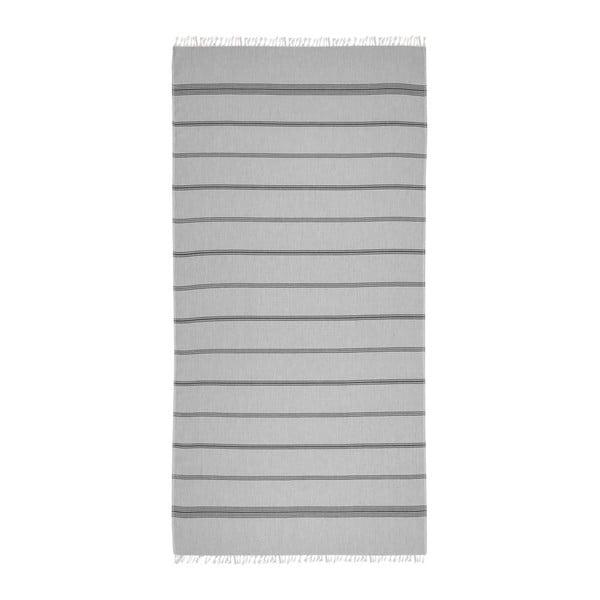 Hammam osuška Loincloth Line Grey, 80x170 cm