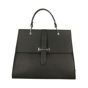 Čierna kožená kabelka Roberto Buono Quadra