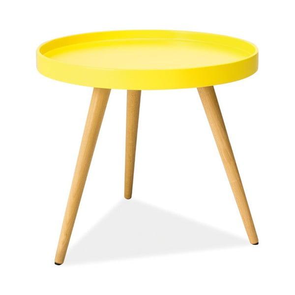 Konferenčný stolík Toni 50 cm, žltý