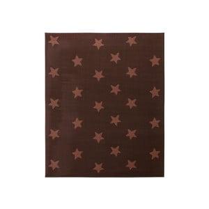 Koberec City & Mix - čokoládové hviezdy, 140x200 cm