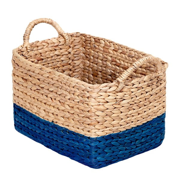 Ručne vyrábaný košík z vodného hyacintu a'miou home Stagna, šírka30cm