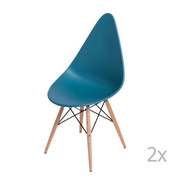 Sada 2 stoličiek D2 Rush DWS, modré