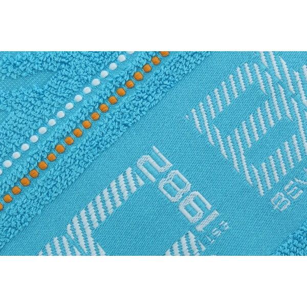 Pastelovomodrý bavlnený uterák BHPC, 50x100 cm
