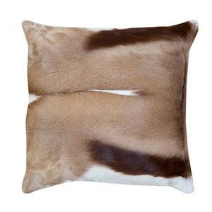 Béžový vankúš z kože gazely Pipsa Piece, 45×45 cm