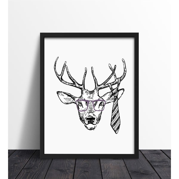 Zarámovaný plagát We Love Home Hipster Deer, 40 x 50 cm