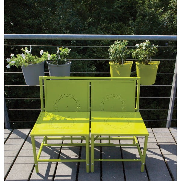 Zelená skladacia zostava na balkón Esschert Design Magic