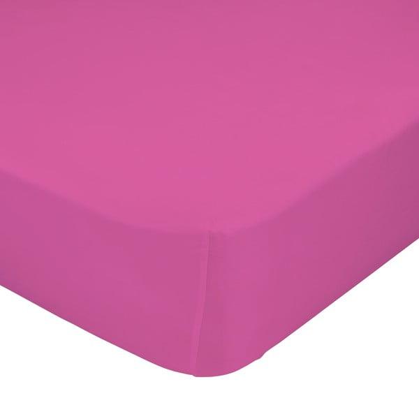 Ružová elastická plachta Happynois, 90x200cm