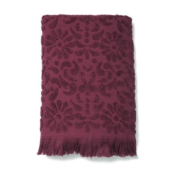 Sada 2 vínových bavlnených uterákov Casa Di Bassi Riad, 50x90cm