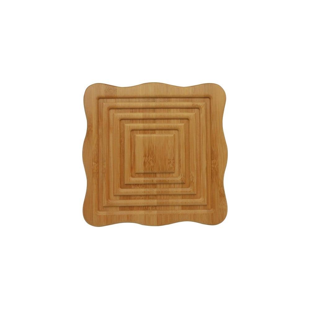 Drevený podnos pod kanvicu v tvare štvorca Bambum