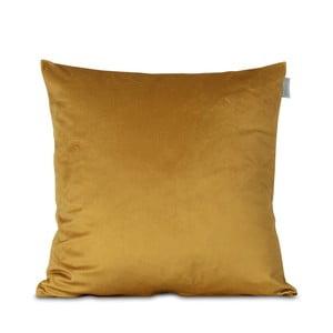 Žltá obliečka na vankúš HF Living Velvet, 45×45cm