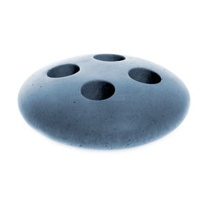 Modrý betónový stojan na kefky Iris Hantverk