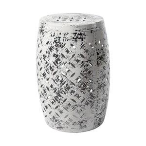 Sivá kovová ručne maľovaná stolička RGE Nour, ⌀ 30 cm