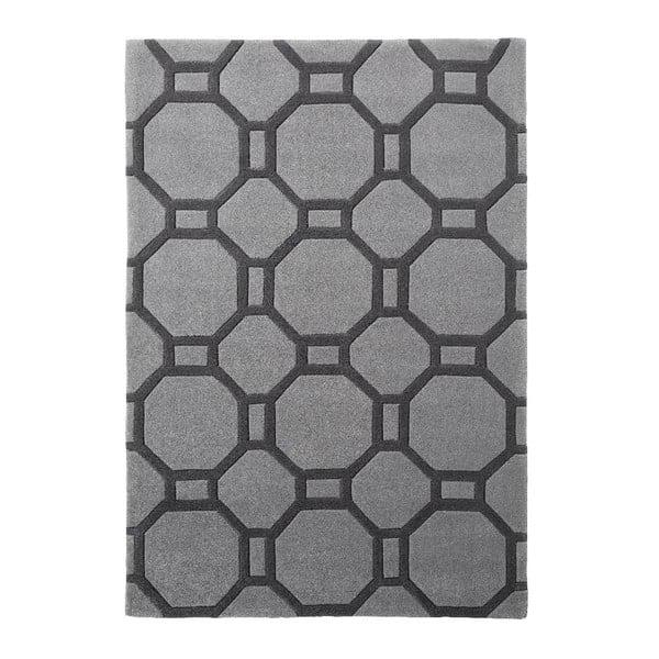 Sivý koberec Tile 120x170 cm